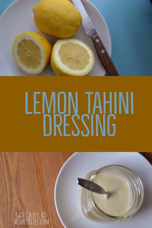 Lemon Tahini Salad Dressing Kate Chury Registered Dietitian Northwest Calgary