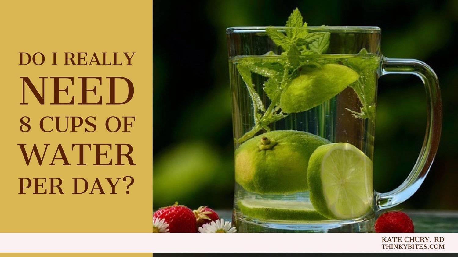 Do I Really Need 8 Cups of Water Per Day?