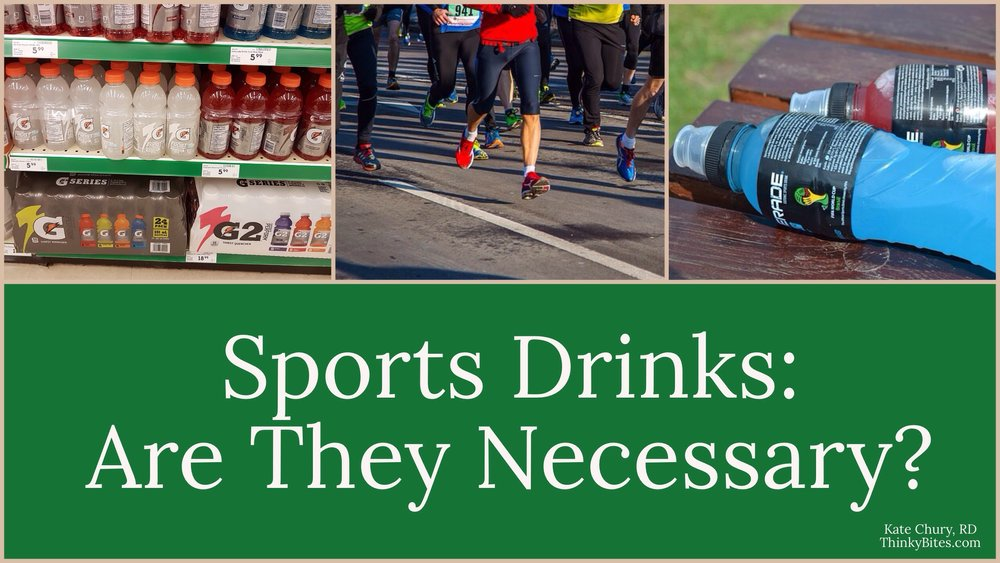 Do I need Sports Drinks Kate Chury Dietitian Calgary