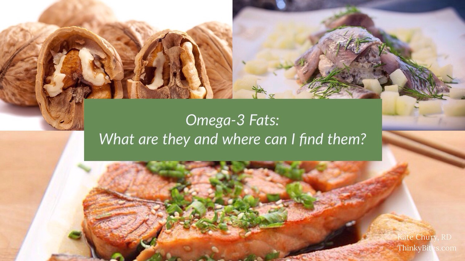 Omega-3 Fats: What are they and where can I find them?