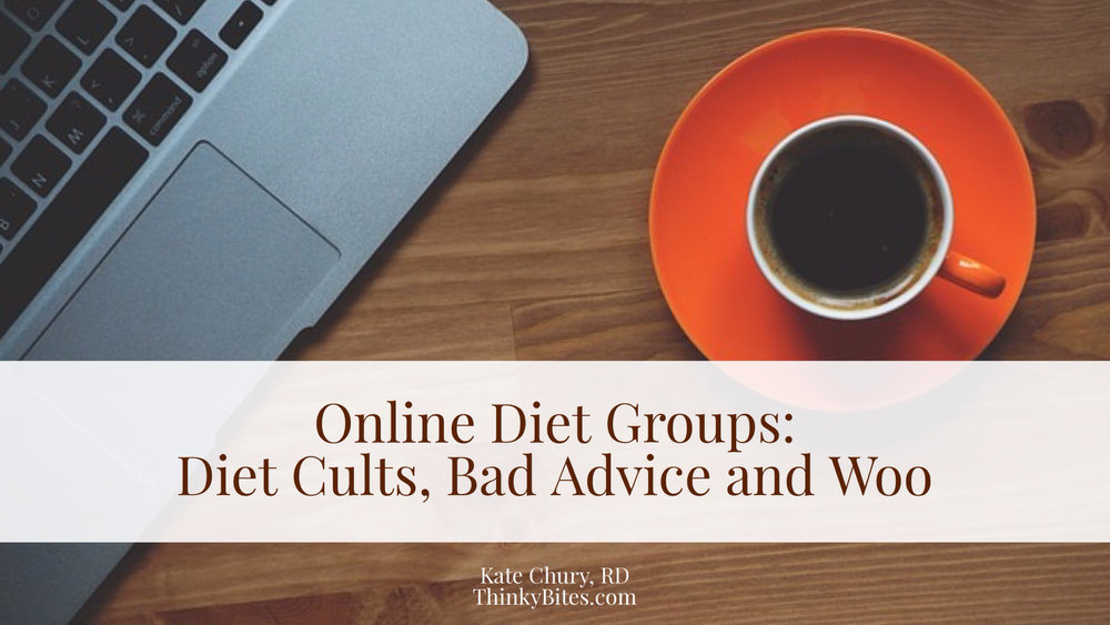Online Diet Groups: Diet Cults, Bad Advice and Woo