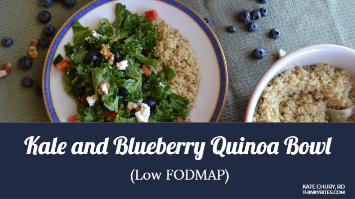 Low Fodmap Salad Kale Blueberry Quinoa