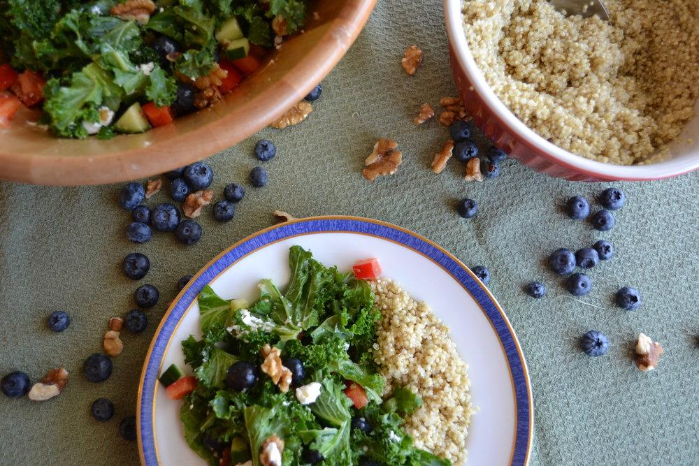 FODMAP dietitian calgary salad blueberry
