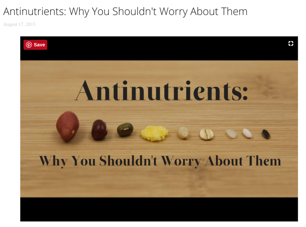 3. - Antinutrients: Why You Shouldn't Worry About Them