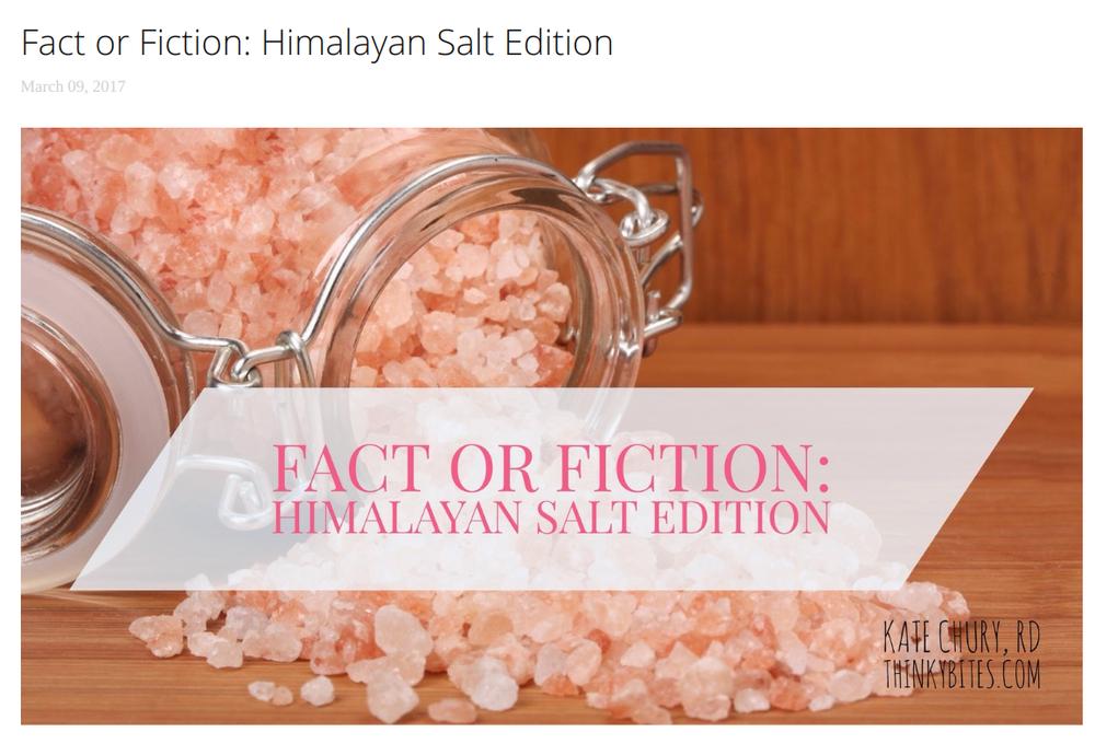 2. - Fact or Fiction: Himalayan Salt Edition