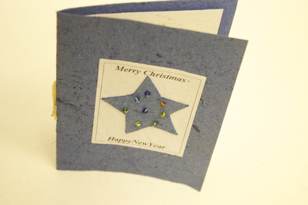 Starry Eve Recycled Paper Christmas Card — Kamhlaba\'s