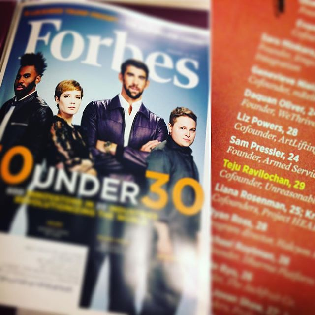 Found it! #forbes #30under30 #veterans @slam_pressler