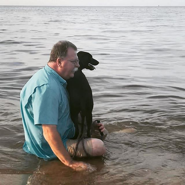 #Pups first time at the #beach and she's a big 'ol baby.