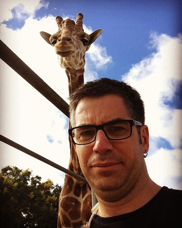 Just before a giraffe ate Nathaniel, he took these two selfies. He will be missed. 😳😩☠️