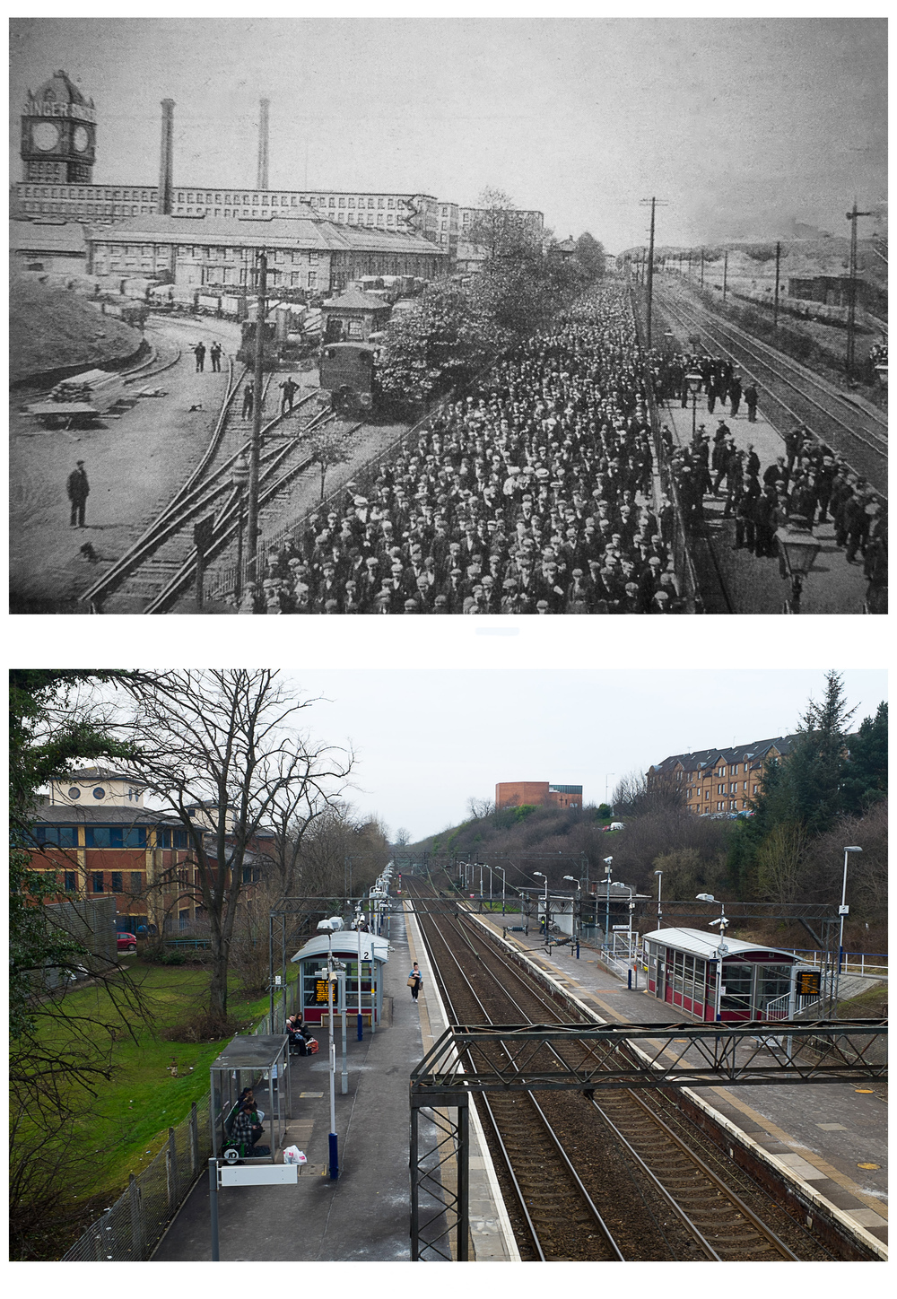 Singer Station - Then & Now