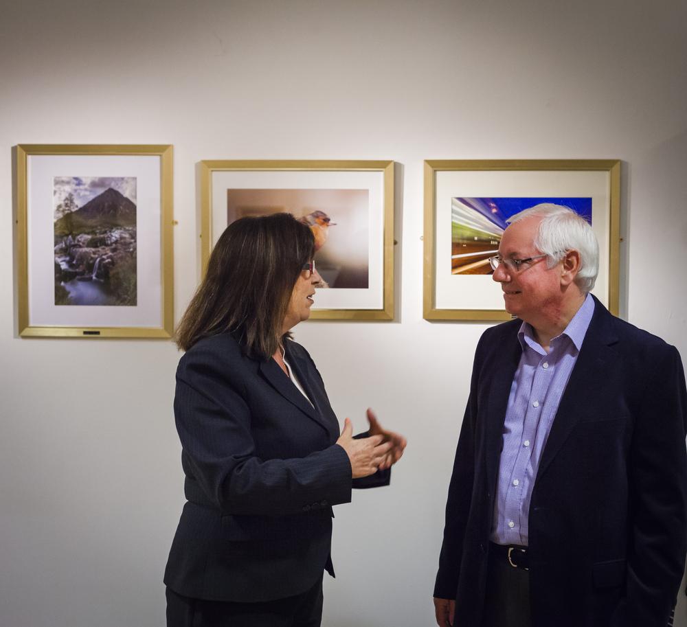 Councillor Gail Casey and John Gilmore