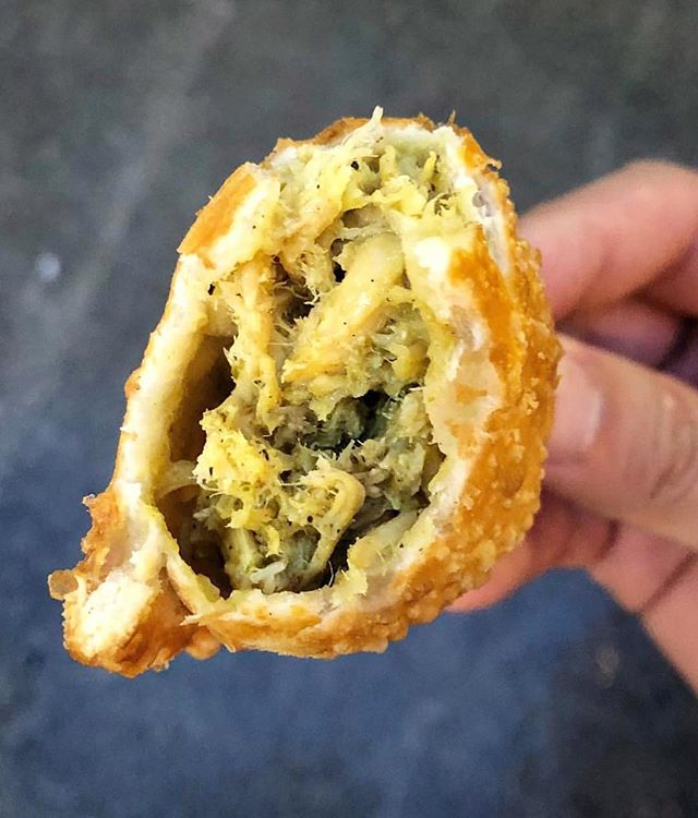 All #gold everything! #Golden crust, golden curry 😋😋😋 #yum - come get your golden #empanadas today & it'll help bring that golden sun out! 📷 credit: @foodmento