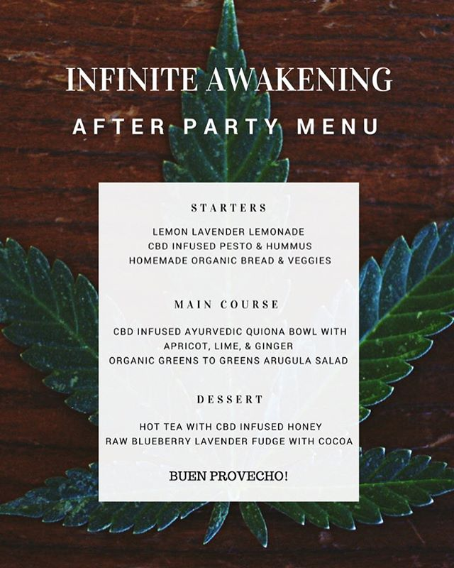 Very excited to contribute some of our CBD recipes  to this wonderful event.  Make sure to check out Infinite Awakening