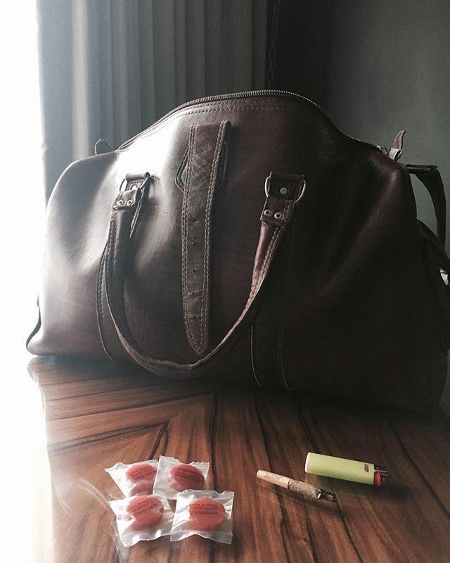 Travel Companions #cinnamoncbd #edibles #hardcandy #traveljoint #marijuana #businesstraveller #necessities #dontforgetyourgreen #gqstyle #luggage #anxiety #flywell #relax