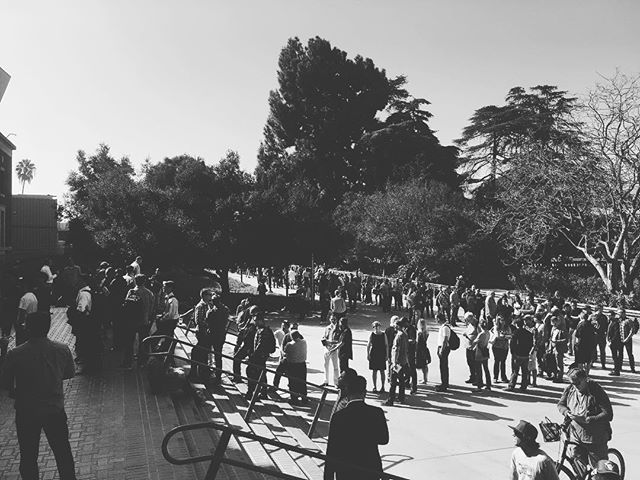 100s of people stretched several.l blocks in hopes of hearing application guidelines from the Bureau of Cannabis Control.  #cannabisindustry #entrepreneur #buddingprospects #LA #waiting
