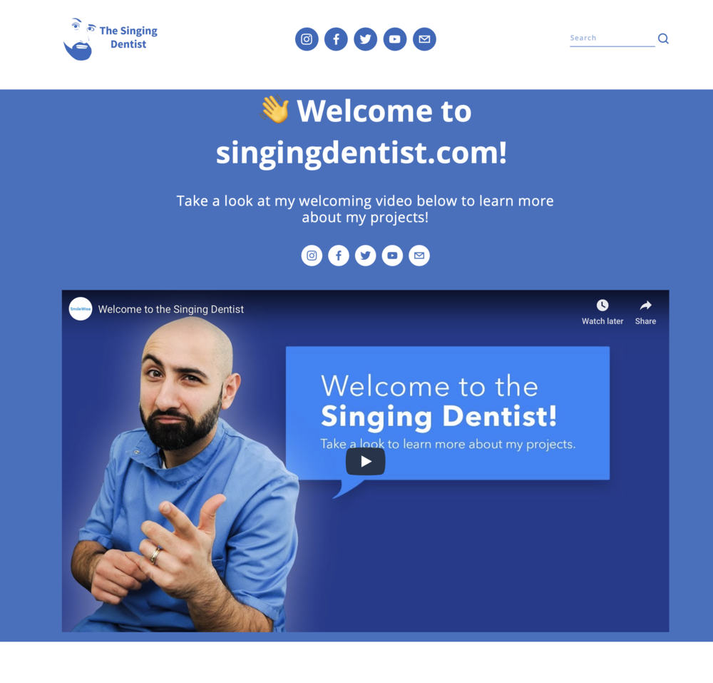 The Singing Dentist - singingdentist.com