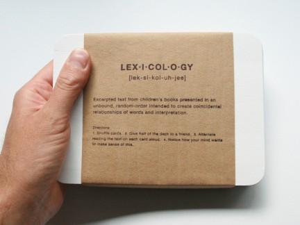 lexicology  (collaboration w Ashley John Pigford)