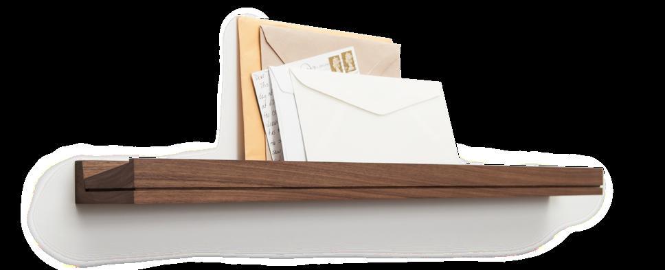 Mail on SINGULAR used as entry/foyer wall shelf.