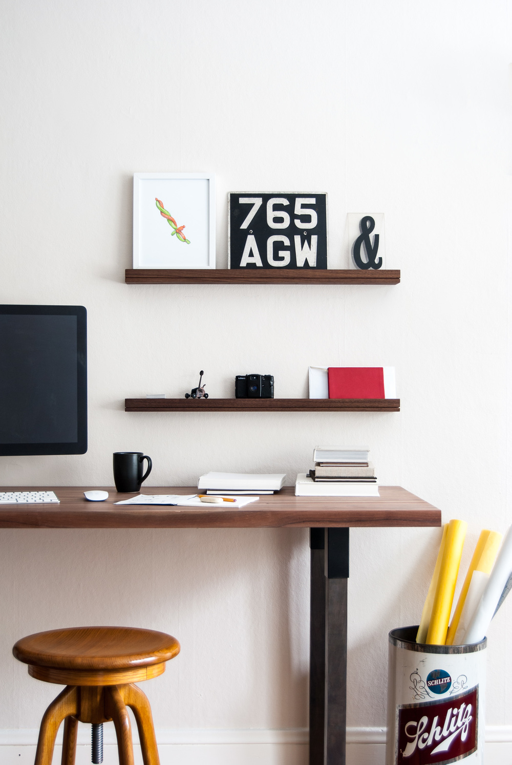 Home office shelving - SINGULAR wall console
