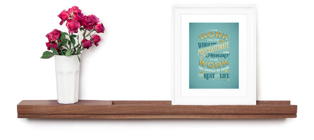SINGULAR wall console floating picture ledge display shelf