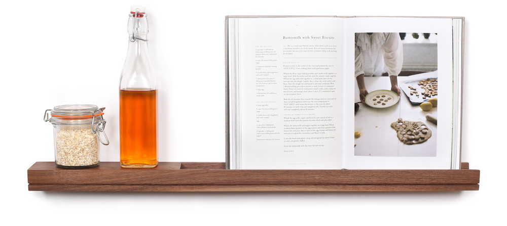 SINGULAR wall console spice rack cookbook shelf