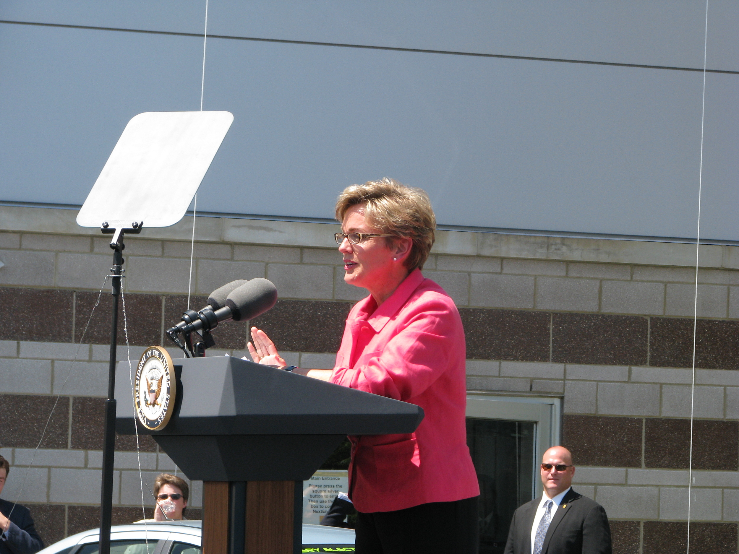 Governor Granholm, introducing Mr. Biden.
