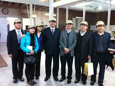 Vice Mayor of Zhenjiang and his staff Visit Nextek