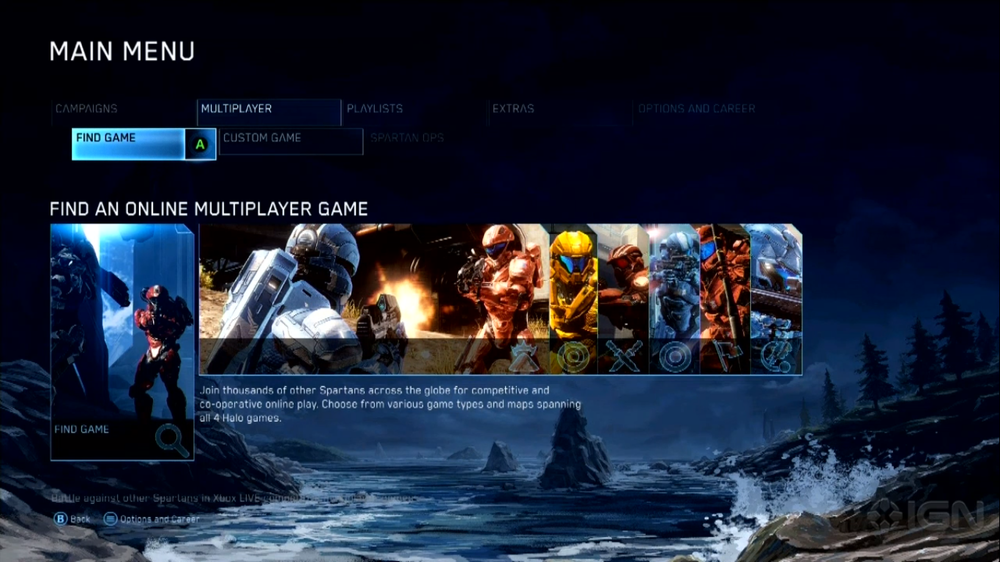 Halo: The Master Chief Collection Multiplayer Menu