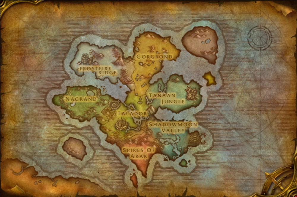 Map of Draenor