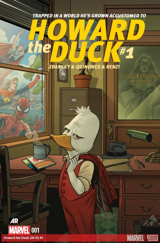 Howard the Duck is back! Join him as he takes on the weird cases that only a talking duck can crack as the Marvel Universe's resident private investigator! Let Chip Zdarsky and Joe Quinones guide you through his new world as he takes on the Black Cat and mysterious forces from outer space! Waugh!