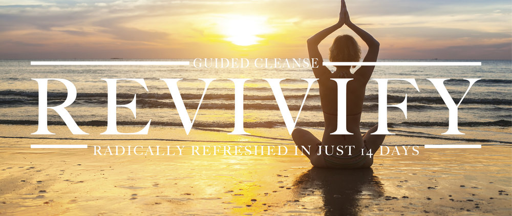 REVIVIFY REBOOT - I will guide you step by step as you detoxify your body, ignite a process of deep healing, discover what food makes you feel the best, and create a sustainable way of eating that will support you on your wellness journey to vibrant health and longevity.