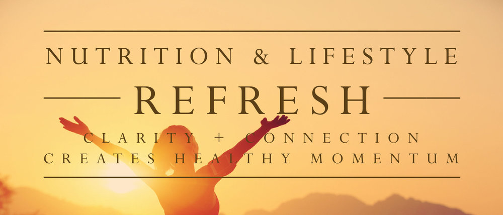 NUTRITION & LIFESTYLE REFRESH - Sometimes we need a refresh + jumpstart! Coaching provides accountability, results & someone you trust to share the journey with!  You've got the skills & foundation, now you just need a little refresh!** This program is for MHW graduates only.  New clients select from the individual or group coaching packages.