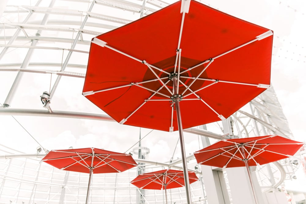 red-umbrellas