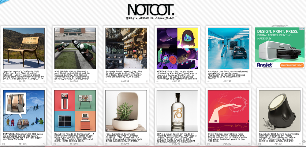 NOTCOT-homepage