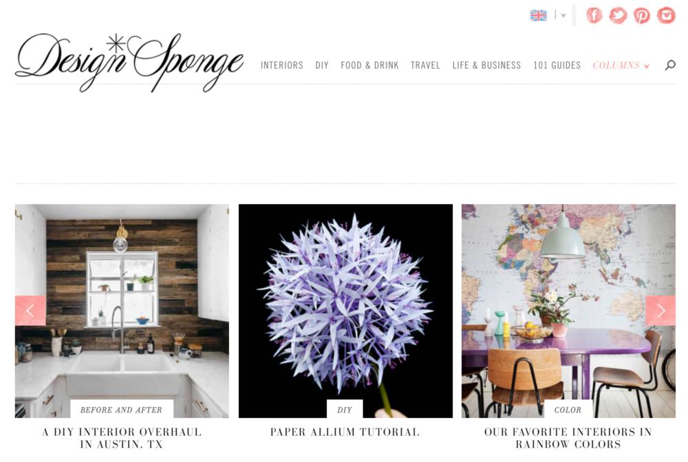 Design*Sponge-homepage