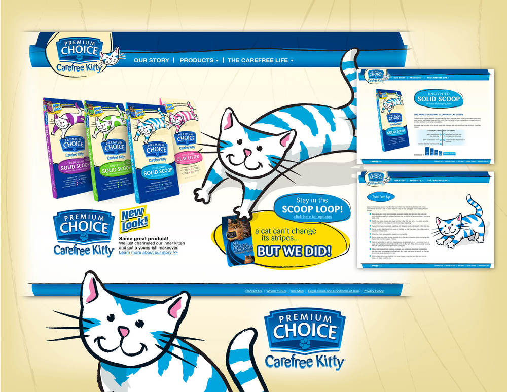Carefree Kitty Brand