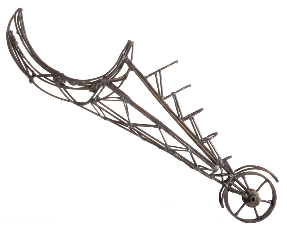 Wire elbow with wheel, no date