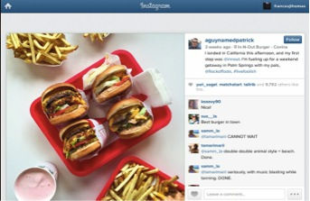 Fans of In-N-Out Burger posting on Instagram