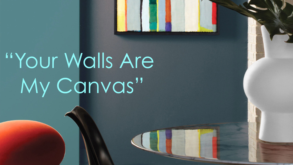 Think of your walls as canvas #devinecolor #impressyourself