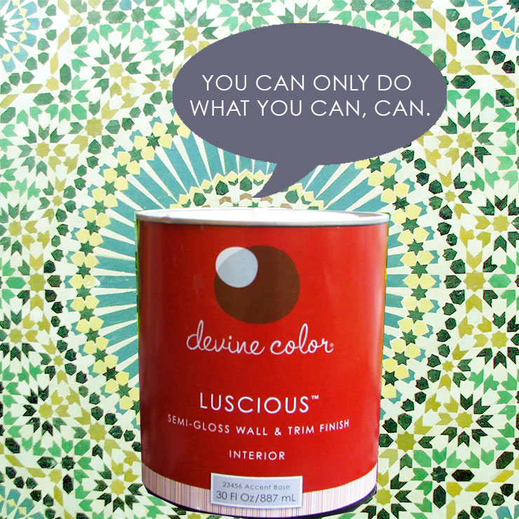You can do what you can, can. #devinecolor #becandid #impressyourself