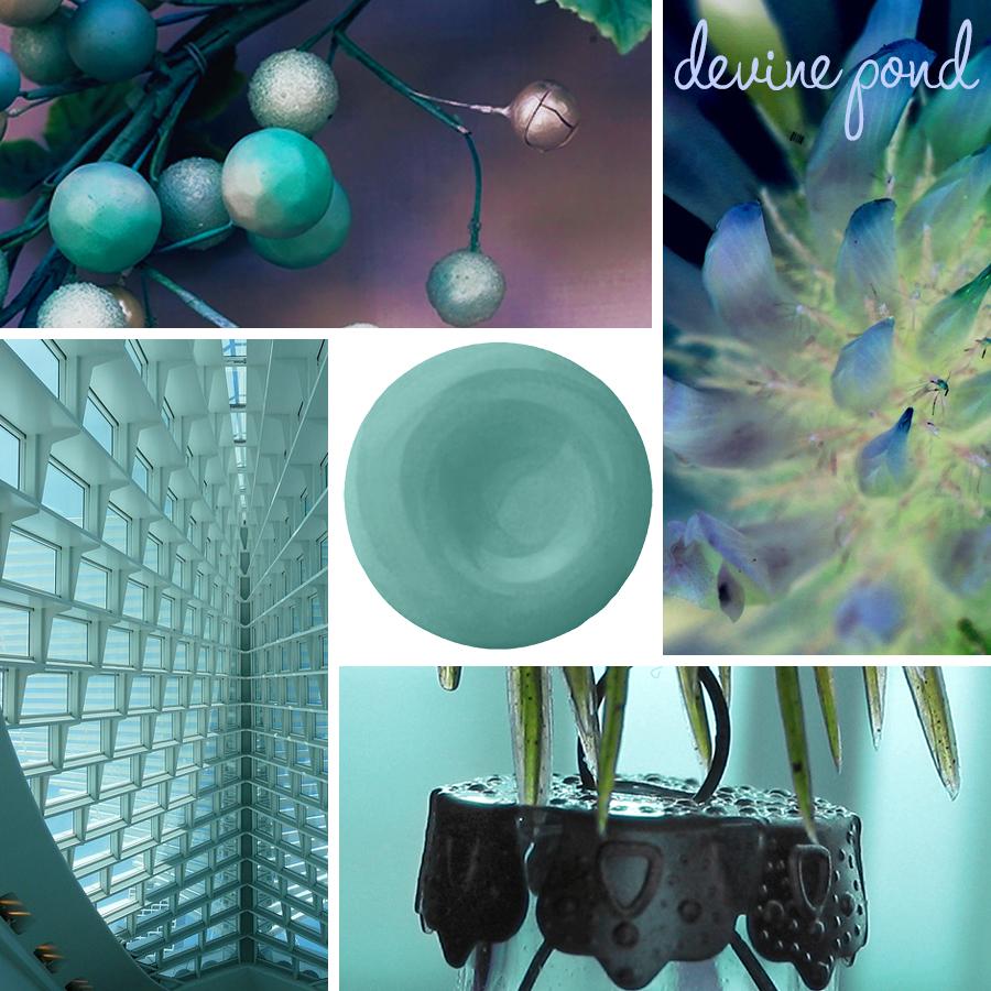 DEVINE POND-WARM BLUE GREEN PAINT COLOR