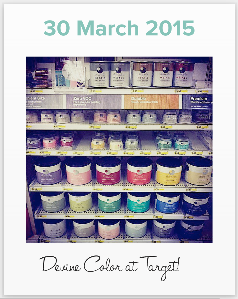 New Devine Colorspring colors, metallics, sparkle, chalkboard paint are now available at all Targets