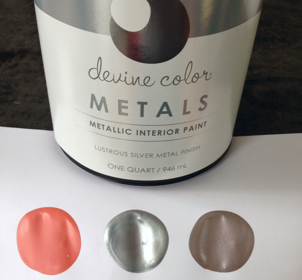 Devine Sterling is a stunning silver metallic paint that when mixed with other colors creates a world of design possibilities. New Devine Color product at Target.