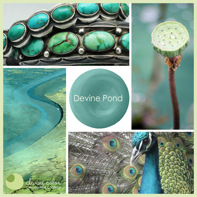 Devine Pond is a perfectly handcrafted blue green turquoise wall color available at Target. Part of Devine Color paint color collections.