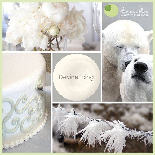 Devine Icing is a perfectly handcrafted white wall color. Part of Devine Color Pebbles and Cream paint color collection.