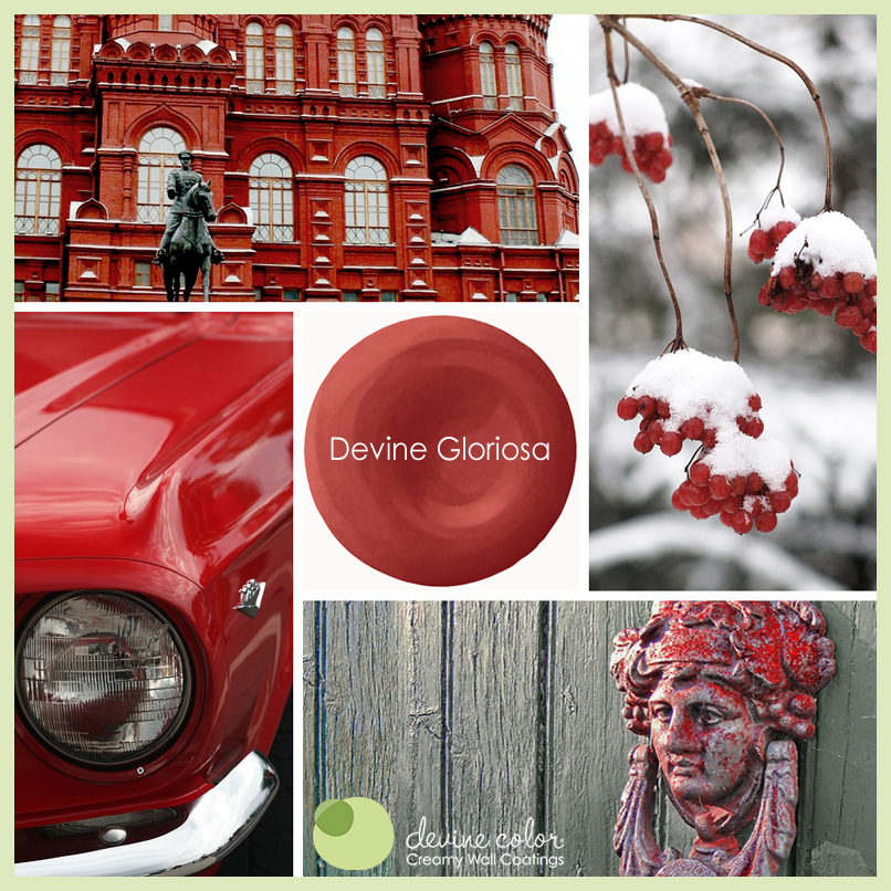 Devine Gloriosa is a perfectly handcrafted traditional red wall color. Part of Devine Color Vida De Lago paint color collection.