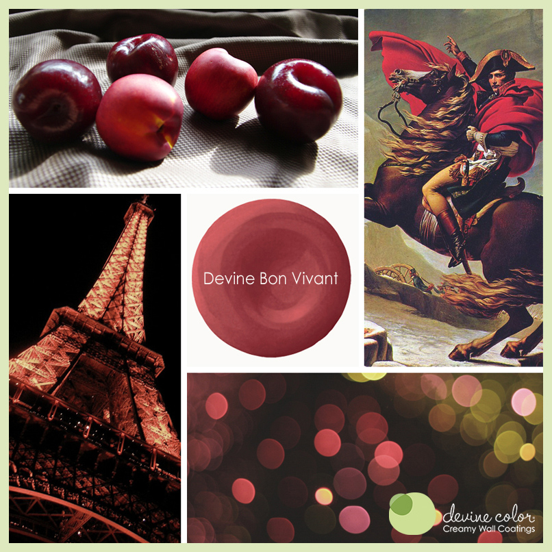Devine Bon Vivant is a perfectly handcrafted rich red wall color. Part of Devine Color French Casino paint color collection.
