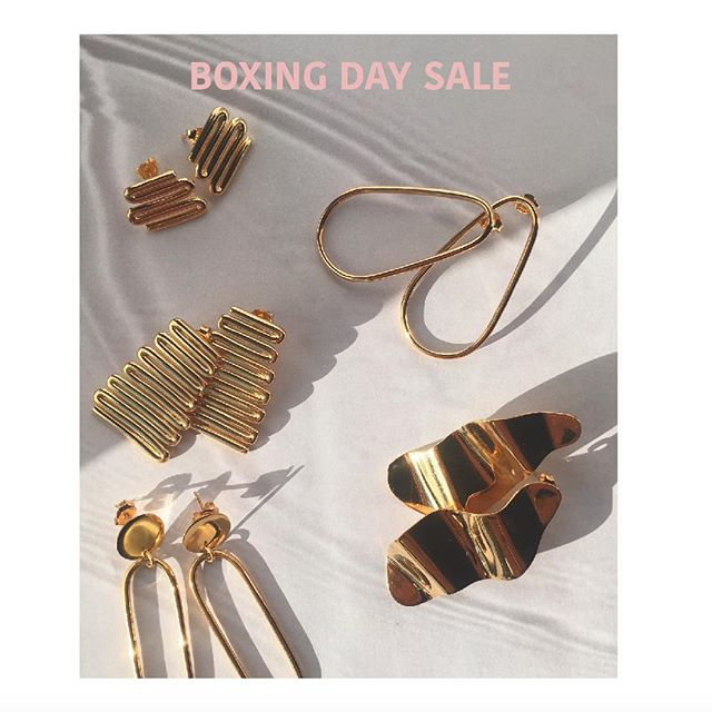Enjoy 30% off our Modernist earrings. Use code BOXING30 at our online checkout. Offer ends midnight, Wed the 27th, Dec. Love T xo