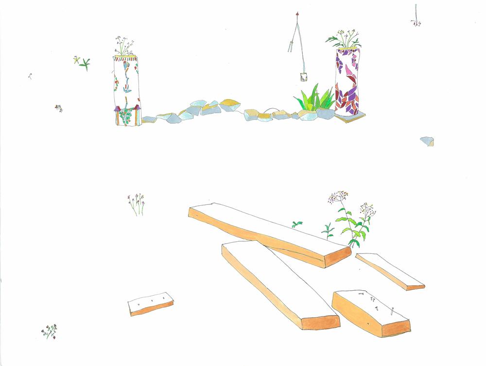 can serrat studio: backyard garden, 2007