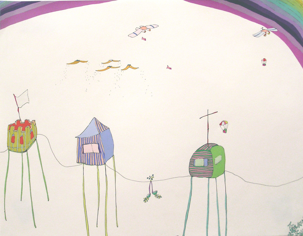 casitas en el aire, what hovers above us, 2006